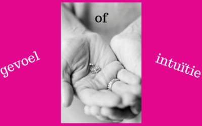 Gevoel en intuïtie: hetzelfde of toch héél anders..?!